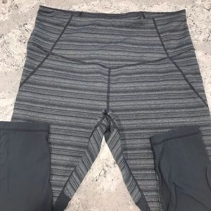 Zella capris with mesh on back of calves